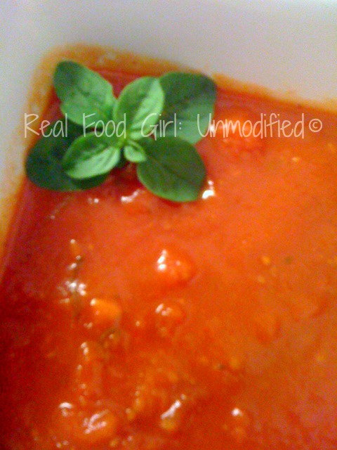 Organic Marinara Sauce by Real Food Girl: Unmodified