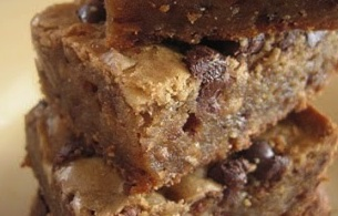 These blondies are crazy good! Chewy, buttery, with a hint of butterscotch flavor. You won't be able to eat just one! #Real Food Girl: Unmodified