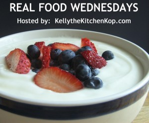 I feature Real Food recipes each Wednesday over at Kelly The Kitchen Kop's Blog.  Stop by and see all the fabulous recipes and resources each Wednesday!!