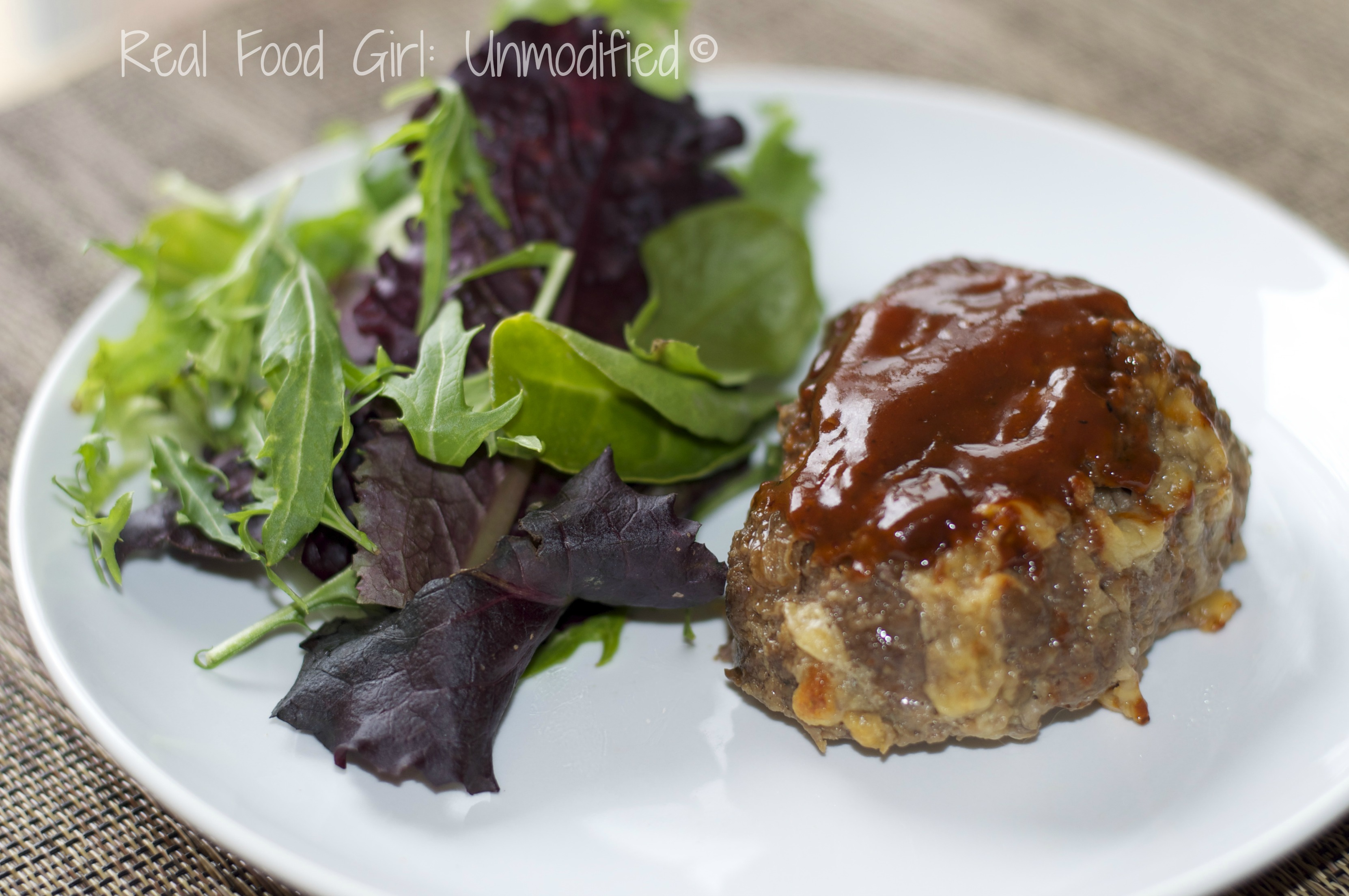 Not yo' Momma's meatloaf! Cheddar-bacon BBQ meatloaves! Organic and GMO-Free. #Real Food Girl: Unmodified