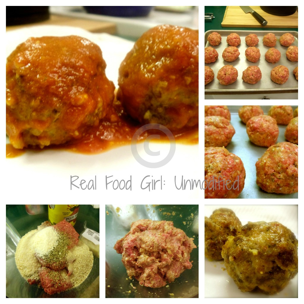 Pork, Beef and Veal Meatballs! Mouth-watering goodness in a tiny package! Real Food Girl: Unmodified