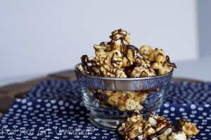 Sea Salted Caramel Corn with Dark Chocolate Drizzle?!  Yes Please!!  From Real Food Girl: Unmodified