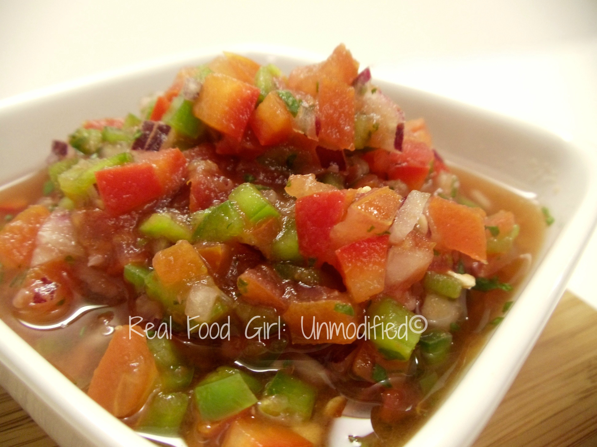 Fresh Organic Garden Salsa. This stuff is pure happiness! #Real Food Girl: Unmodified
