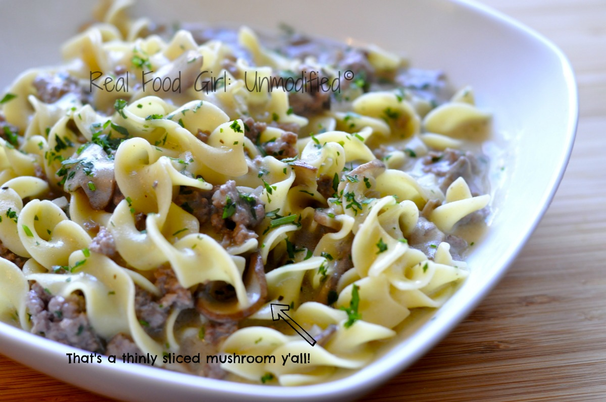 Creamy mushroom beef stroganoff real food girl creamy mushroom beef stroganoff from real food girl unmodified its organic and its forumfinder Images
