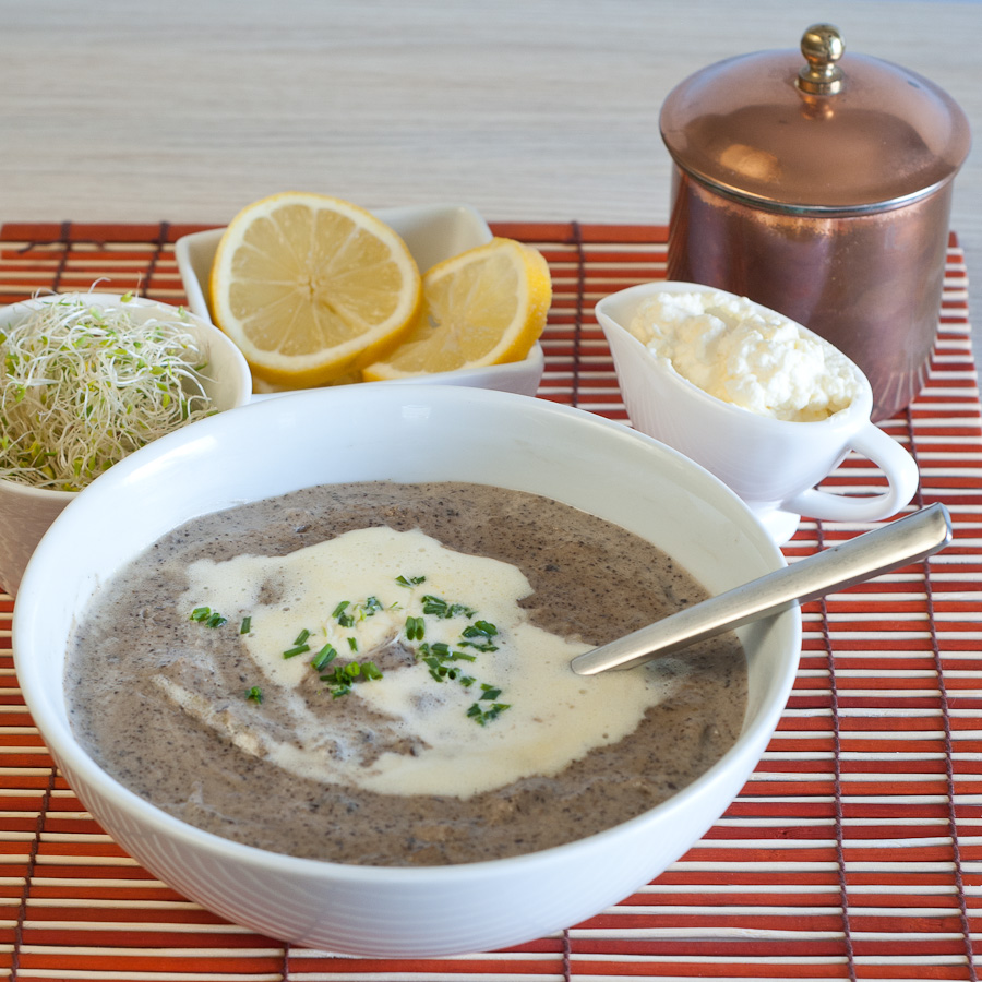 Real Food Cream of Mushroom Soup by Real Food Girl: Unmodified with a GF version