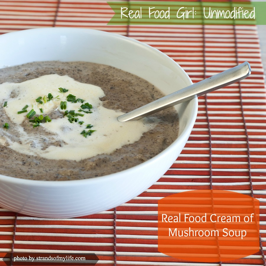 Cream of Mushroom soup by Real Food Girl