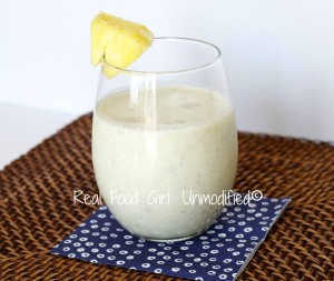 Pineapple Coconut Chia-colada. Healthy, organic, rich, creamy and yumtastic! Real Food GIrl: Unmodified