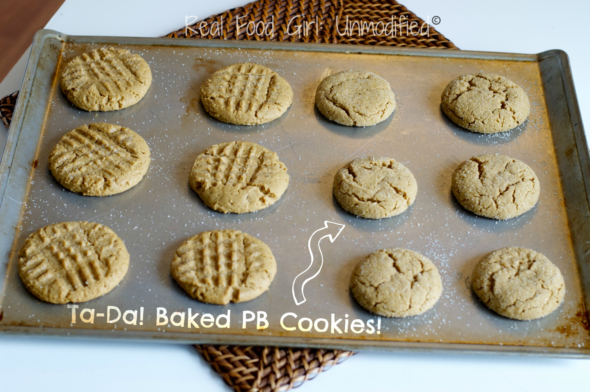 Soft & Chewy Peanut Butter Cookies. Organic and featured on Real Food Girl: Unmodified