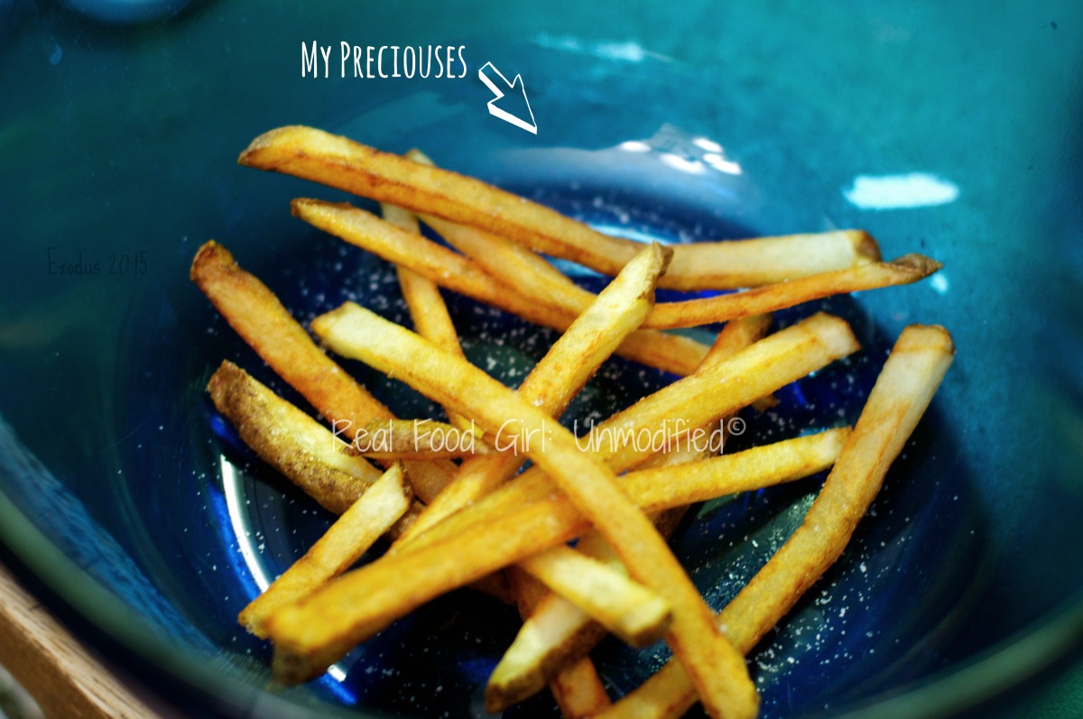 Homemade Organic French Fries. GMO-Free! |Real Food Girl: Unmodified