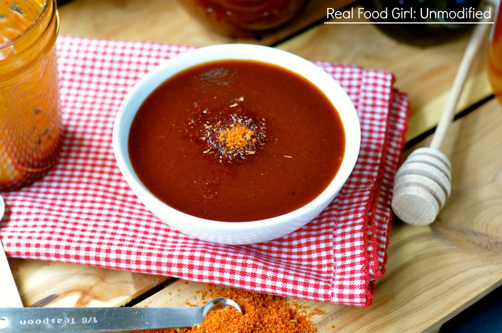 Sweet & Zesty BBQ Sauce from Real Food Girl. It's sauce for a fingers only meat buffet folks!
