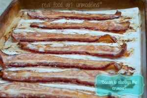 Baking Bacon.  Yeah! Real Food Girl:Unmodified