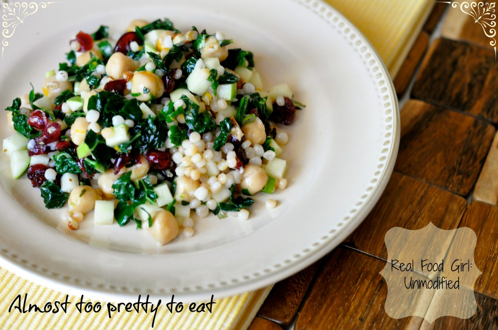 Real Food Girl: Unmodified--Citrus Kale Couscous Salad