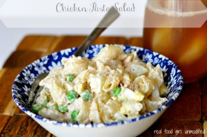 Organic Chicken Pasta Salad--Real Food Girl: Unmodified