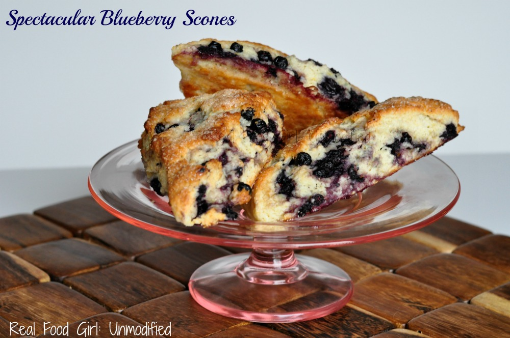 Spectacular Blueberry Scones by Real Food Girl: Unmodified