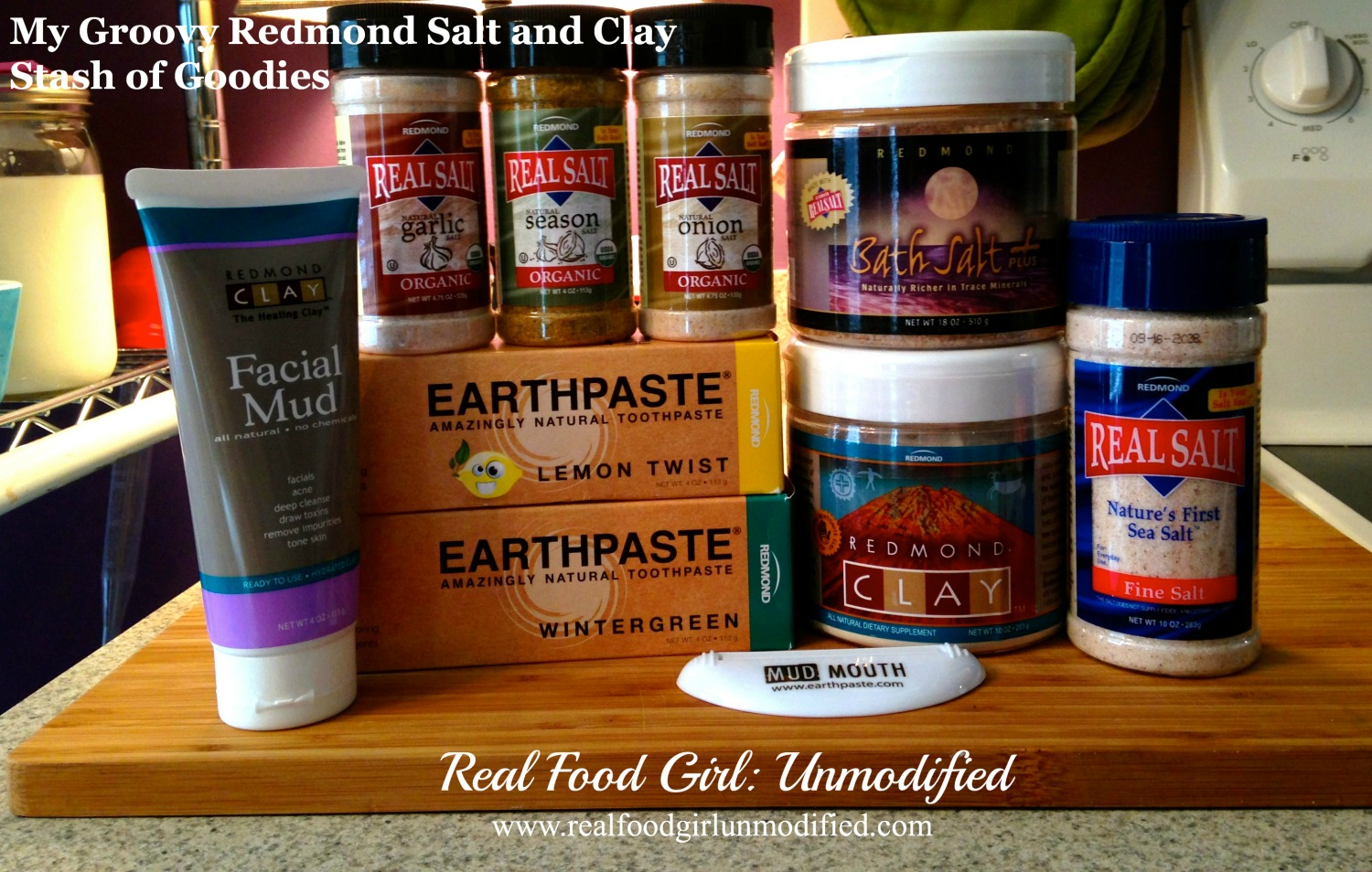 Real Food Girl talks about Redmond Trading Company products - Real Salt, bentonite Clay and Earthpaste to name a few