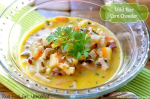 Real Food Wild Rice Corn Chowder from Real Food Girl:Unmodified (with chicken and bacon)