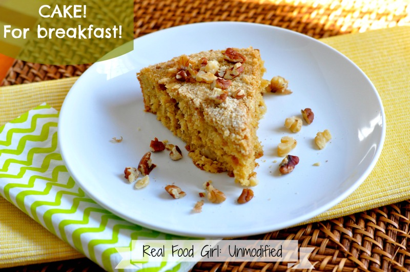 Easy Bake Coffee Cake by Real Food Girl: Unmodified. This looks so good. Have to make! Pin Now!