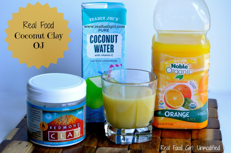 Redmond Clay Coconut Ojay Drink by Real Food Girl: Unmodified. I gotta try this! Pin NOW!