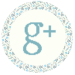 Blue Floral Media Icon - Google Plus