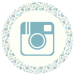 Blue Floral Media Icon - Instagram