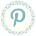 Blue Floral Media Icon - Pinterest