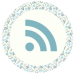 Blue Floral Media Icons - RSS Feed