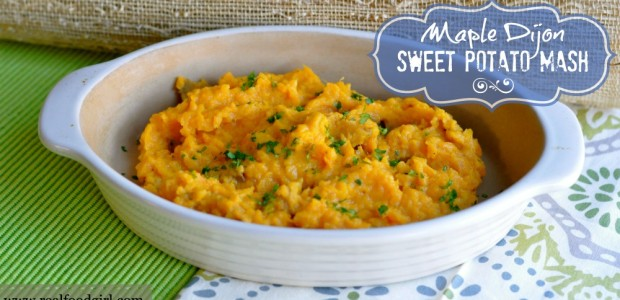 Maple Dijon Sweet Potato Mash|Real Food Girl: Unmodified