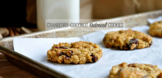 Real Food Girl: Unmodified| Cranberry-Coconut Oatmeal Cookies. Chewy cookies with dried cranberries, sweet coconut, tasty organic oats, cinnamon and nutmeg! Yes Please!