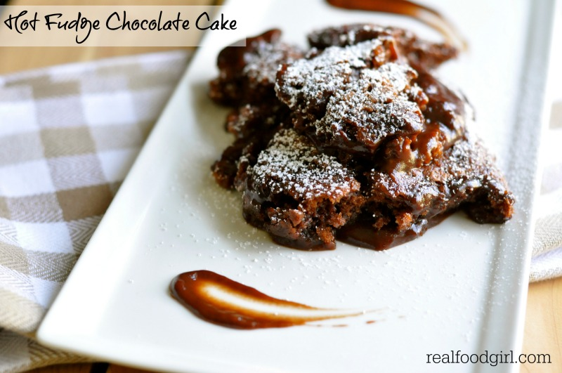 Hot Fudge Chocolate Cake by Real Food Girl: Unmodified. It's gooey, chocolate, hot-fudgy goodness on a plate!