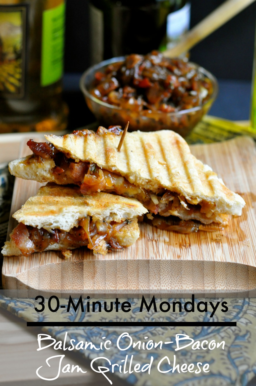 30-Minute Mondays-- Onion Bacon Jam Grilled Cheese by Real Food Girl