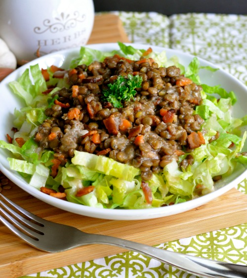 Lentil Salad with Bacon| Real Food Girl: Unmodified