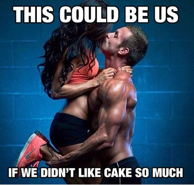 this could be us if we didn't like cake
