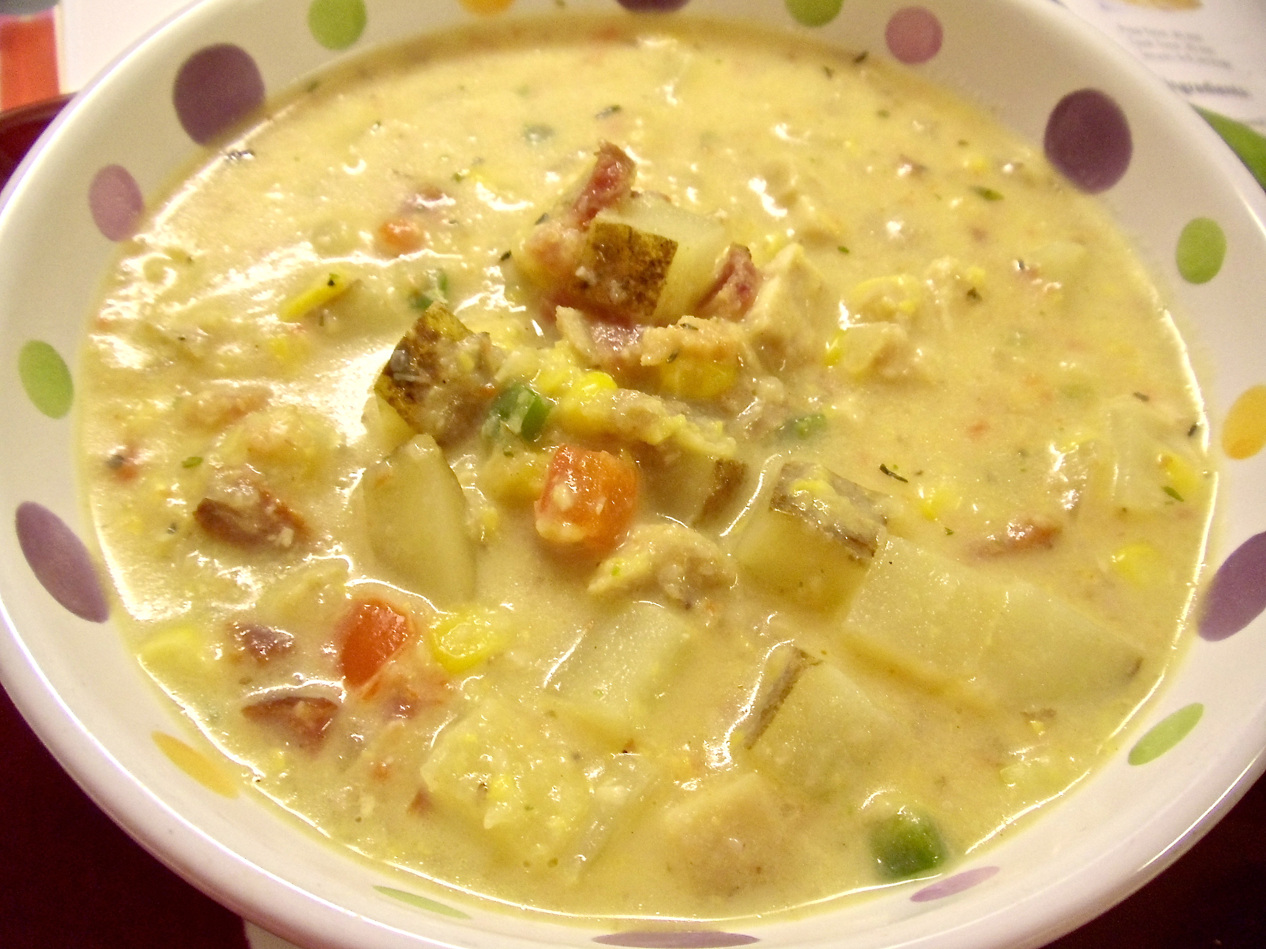 Jalapeno Chicken Corn Chowder. (it has bacon!!) This is cheap to make and easy to prepare! #Real Food Girl: Unmodified