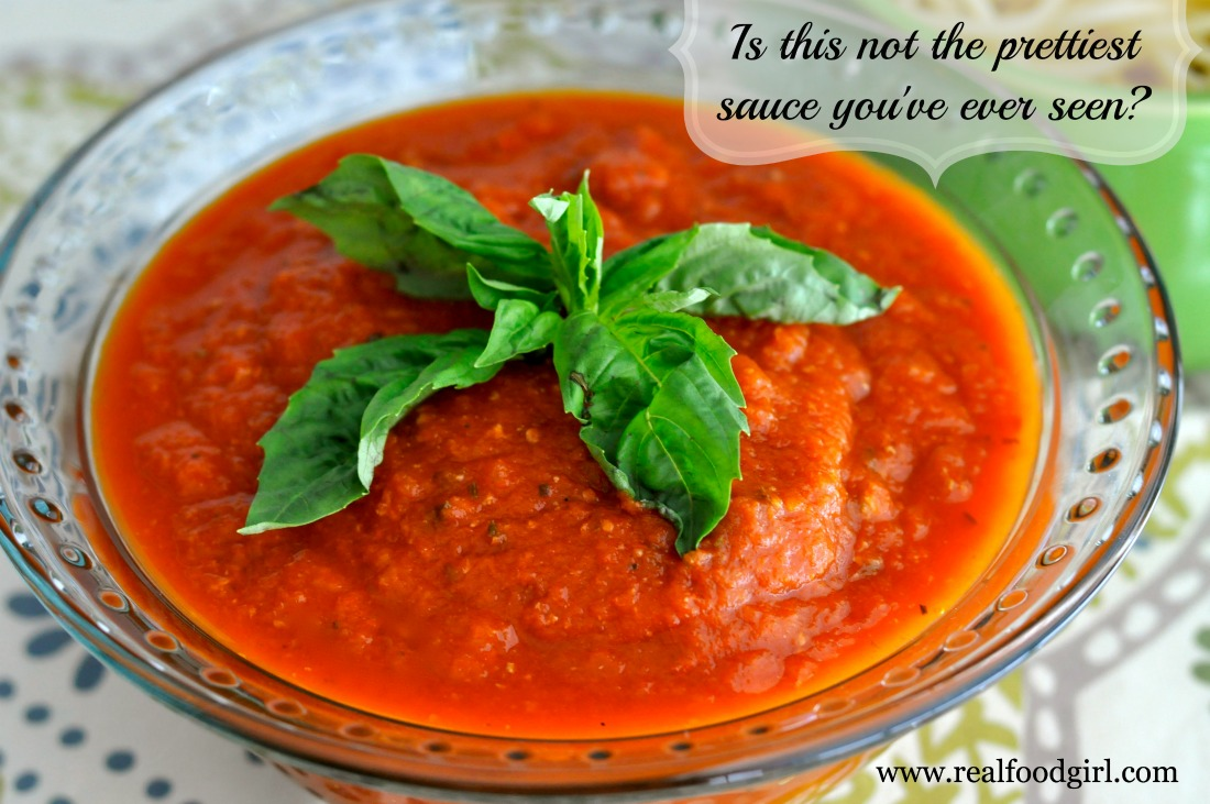 Authentic Sunday Gravy- Real Food Girl knows Marinara- and this sauce is awesome! Pin this!