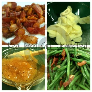 GMO-Free Side Dishes. Apricot Glazed Haricot Verts with Bacon.  Real Food Girl: Unmodified