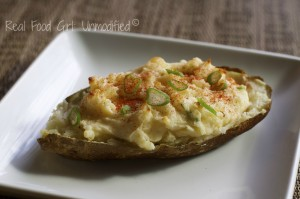 Cheesy twice-baked awesomeness. Real Food Girl: Unmodified