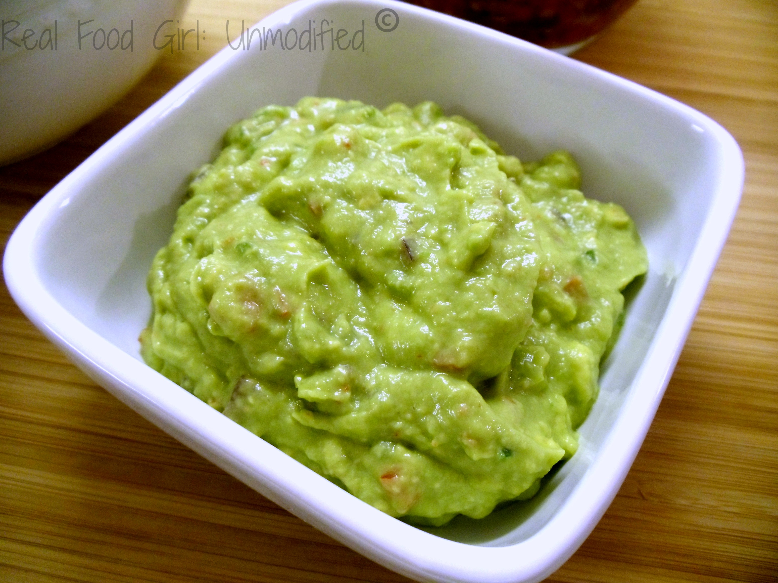 Holy Guacamole. Organic, Fresh, and a secret ingredient makes it extra creamy! Real Food Girl: Unmodified
