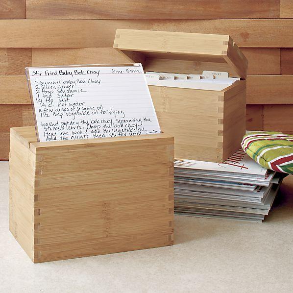 Crate & Barrel Recipe Boxes