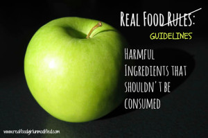 Real Food Guidelines by Real Food Girl- Unmodified. Stop stressing over rules!