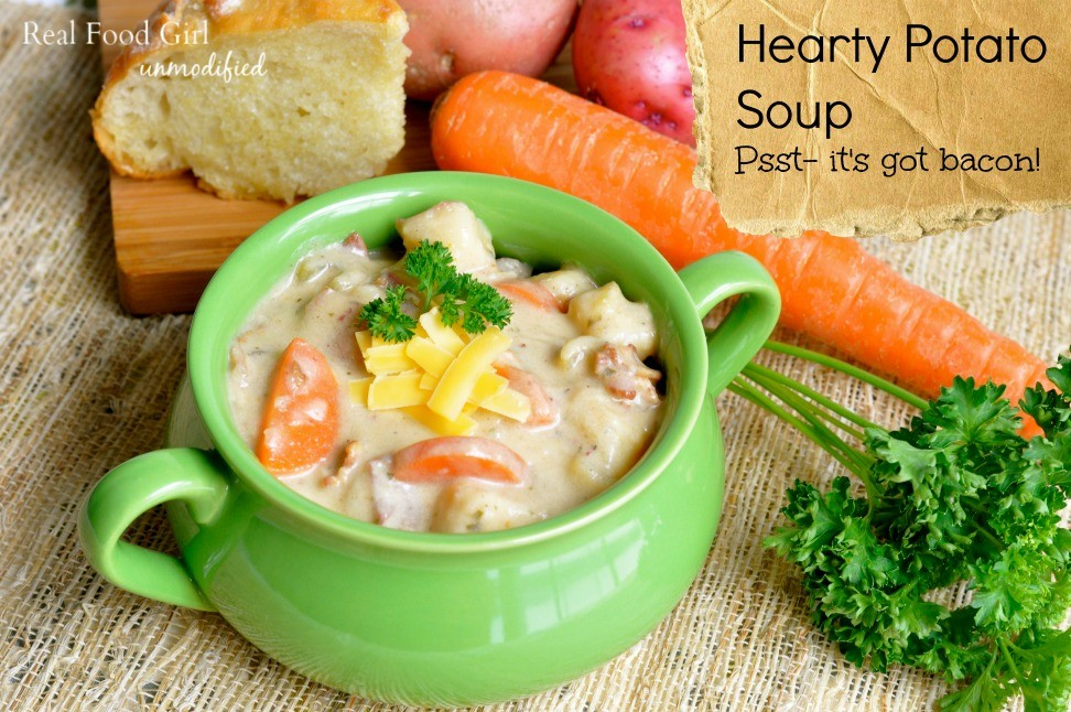 Hearty Potato Soup with Bacon from Real Food Girl. Mmm!