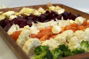 Organic roasted veggies. Look at the color! Real Food Girl: Unmodified
