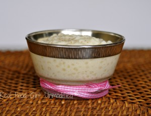 Classic Tapioca Pudding. Old-fashioned goodness made GMO-Free. This pudding is so good, I ate the entire first batch ALL by myself. No lie, hand to God, it was that good and I snarfed it all down!! Real Food Girl: Unmodified