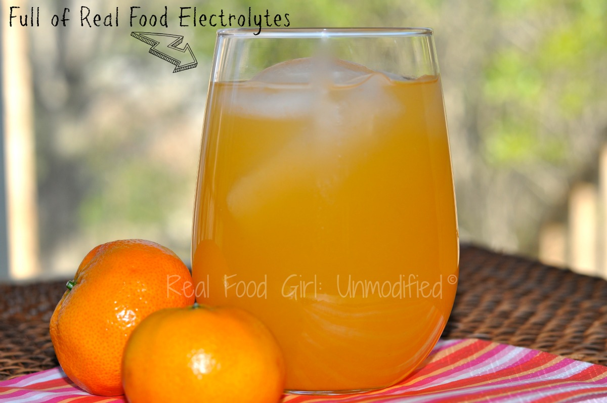 Real Food Electrolyte Drink by Real Food Girl: Unmodified