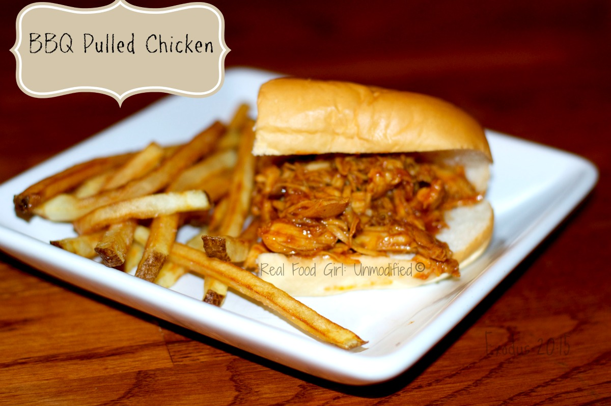 Real Food Girl: Unmodified-- GMO-Free Pulled Pork BBQ