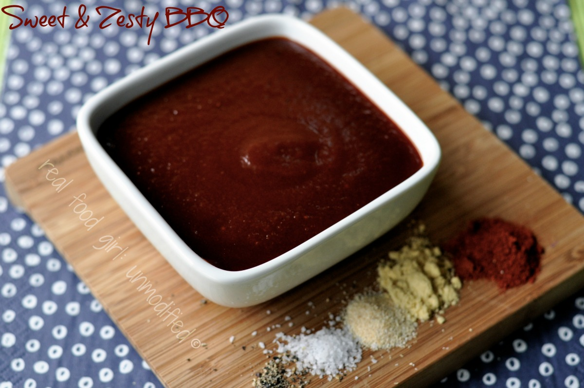 real food girl: unmodified. Sweet & Zesty BBQ Sauce