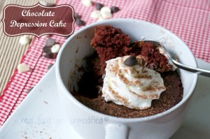 Chocolate Depression Cake in a Mug-- by Real Food Girl: Unmodified