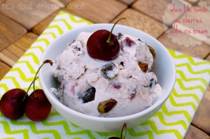 Roasted Cherry Pistachio Chocolate Chunk Ice Cream