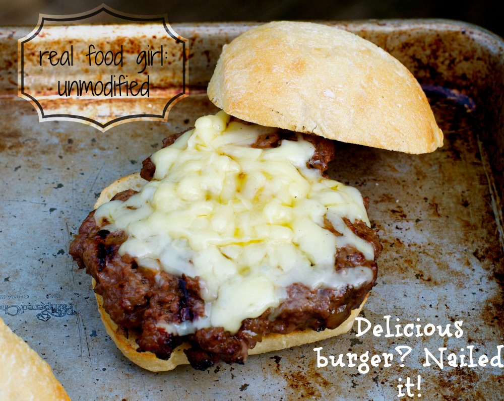 Caramelized Onion Burgers by Real Food Girl: Unmodified