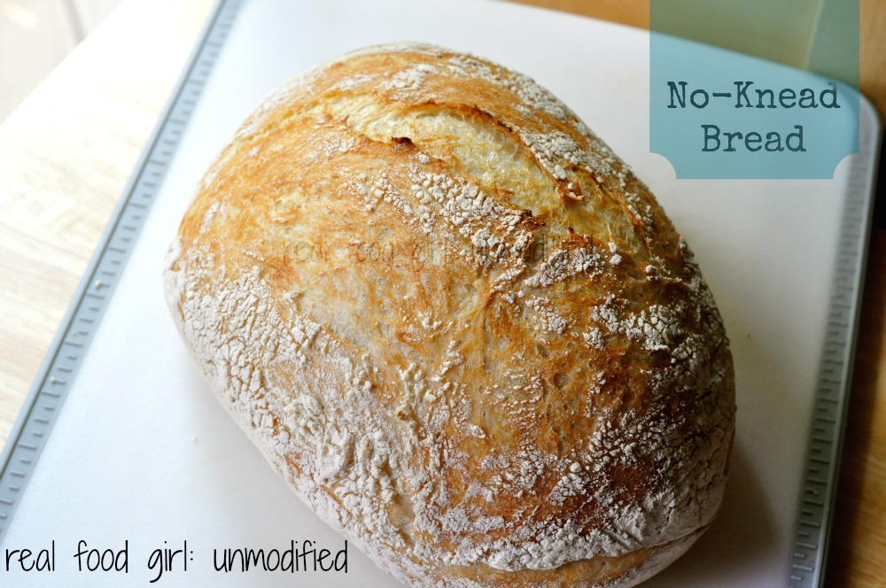 Organic No-Knead Rustic Bread by Real Food Girl: Unmodified