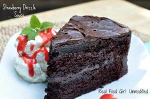 Chocolate Cake with Chocolate Buttercream Frosting. GMO-Free--By Real Food Girl: Unmodified